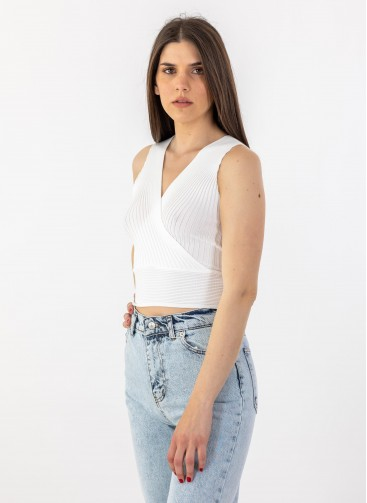 Ripped Crop Top 402.0367-TOP Τοπ